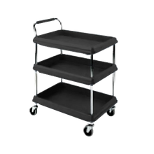Metro BC2636-3DBL Deep Ledge Utility Cart, 3-tier with open base, 38-3/4