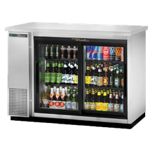 TRUE TBB-24-48G-SD-S-HC-LD Back Bar Cooler, two-section, 24