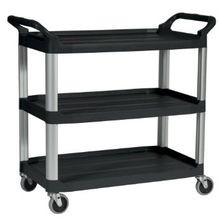 Rubbermaid, 3 Shelf Utility Cart, Black