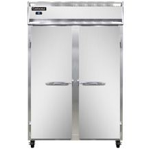 Continental 2R Refrigerator, reach-in, two-section, self-contained refrigeration, stainless steel front, aluminum interior & ends, standard depth