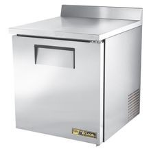 TRUE TWT-27-ADA-HC ADA Compliant Work Top Refrigerator, one-section, stainless steel top with rear splash, front & sides, clear coated aluminum