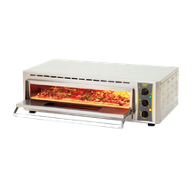 Equipex PZ-4302D Sodir Pizza Oven, countertop, electric, fire brick stone, single deck, quartz heating elements, 660F thermostatic controls, 15 min.