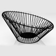 FLIK DBL WALL FRUIT BOWL BLACK