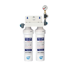 IceOMatic IFQ2 Water Filter Manifold, dual filter designed for ice makers producing between 1050 and 2400 lbs. (1090.6 Kg.) of ice per day, 3.0 gpm