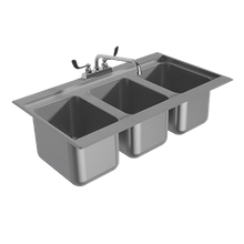 Advance Tabco DBS-3-X Bar Sink, drop-in, 36-5/16