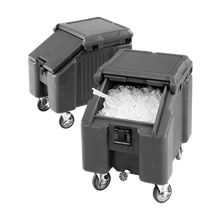 Cambro ICS100L4S110 SlidingLid Ice Caddy, mobile, 28-3/4