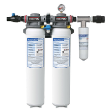 Bunn-O-Matic 39000.0013 EQHP-TWIN70L Easy Clear Water System, 108,000 gallon (6 months), 10 gpm, reduced sediment, chlorine taste & odor, reduction