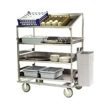 Lakeside B597 Soiled Dish Breakdown Cart, 75-1/2
