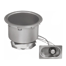 Eagle 7QDI-120 Food Warmer, Drop-in, Electric, 7 quart round pan, wet & dry operation, infinite control, stainless steel construction, uninstalled