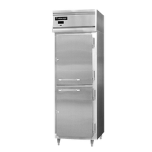 Continental DL1RS-SA-HD Designer Line Refrigerator, reach-in, one-section, self-contained refrigeration, stainless steel exterior, aluminum interior