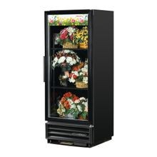 TRUE GDM-12FC-HC-LD Floral Merchandiser, one-section, (2) shelves, laminated vinyl exterior, black interior with stainless steel floor, (1) Low-E