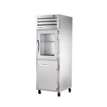 TRUE STR1R-1HG/1HS-HC SPEC SERIES Refrigerator, Reach-in, one-section, stainless steel front & sides, (1) glass & (1) stainless steel half doors