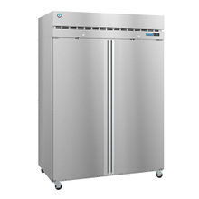 Hoshizaki R2A-FS Steelheart Series Refrigerator, reach-in, two-section, 50.37 cu. ft., top mounted self-contained refrigeration, (6) epoxy coated wire