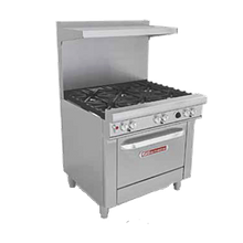 Southbend H4363A Ultimate Restaurant Range, gas/electric, 36