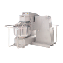Doyon AB080XAI Spiral Mixer, 280 lb. dough capacity, 2 speeds, programmable digital control, stationary stainless steel bowl, safety guard & mixing