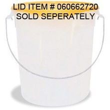 PAIL STORAGE CONTAINER 22QT WHITE WITH HANDLE