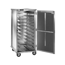 Cres Cor 103-UA-11D Cabinet, mobile, enclosed, single compartment, non-insulated, hold (11) sets universal angles pan slides on adjustable 1-1/2