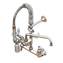 T&S Brass MPY-8WLN-12-4C EasyInstall Mini Pre-Rinse Unit, wall mount, 8