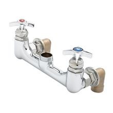 T&S Brass B-0290-LN Kettle & Pot Sink Mixing Faucet, wall mount, 8