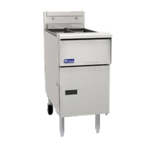 Pitco SE14T Solstice Fryer, electric, floor model, split frypot, (2) 20 - 25 lb. oil capacity tanks, solid state controls, melt cycle, boil out