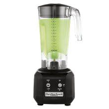 Commercial Bar Blender, 44 oz. This commercial blender features a polycarbonate container and stainless steel blades.