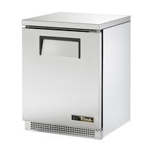 TRUE TUC-24F-HC Undercounter Freezer, -10 F, stainless steel top & sides, (1) stainless steel door, (2) shelves, clear coated aluminum interior with