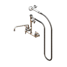 T&S Brass B-2308 Spray Assembly, wall mount mixing faucet with 8
