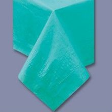 TABLECOVER 54X108 TEAL POLY/TISSUE (25)
