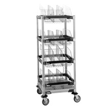 Metro MXIV2 MetroMax i Sloped Basket Cart with Top Shelf, 24