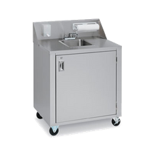 Crown Verity CV-PHS-1 Portable Hand Sink, 1 compartment, lockable access door, (2) 5 gallon removable fresh water tanks & (2) 7-1/2 gallon removable