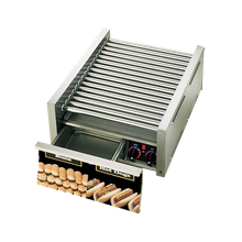 Star 45SCBD Grill-Max Hot Dog Grill, roller-type with integrated bun drawer, stadium seating, Duratec coated non-stick rollers, capacity 45 hot