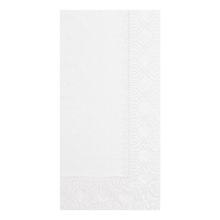 NAPKIN DINNER 15X17 WHITE 2 PLY 1/8 FOLD (1000)