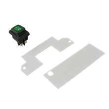 FMP 171-1296 Bun Steamer Switch Kit, includes green lighted DPST rocker switch, (2) insulators