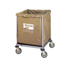 Metro LXHR-ESS Lodgix Essentials Houserunner Cart, modular design, linen bag shelf (can hold glass racks), 6