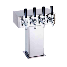 Perlick 4006S8B Wide Base Tee Draft Beer Tower, countertop, 22-7/8