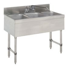 Advance Tabco SLB-33C-X Underbar Sink Unit, 3-compartment, 36