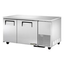 TRUE TUC-60-32 Deep Undercounter Refrigerator, 33-38 F, stainless steel top & sides, (2) stainless steel doors, (4) shelves, aluminum interior