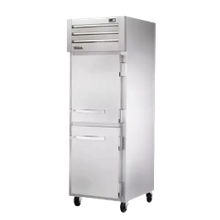 TRUE STR1F-2HS-HC SPEC SERIES Freezer, Reach-in, -10F, one-section, stainless steel front & sides, (2) stainless steel half doors with locks