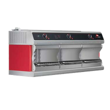 Hatco TFWM-3900 Thermo-Finisher 3-Bay Food Finisher, Wall mounted, electric, (3) upper elements, infrared ribbon elements, individual microprocessor