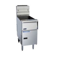 Pitco SSH55TR Solstice Supreme High Efficiency Fryer, gas, twin tanks, (2) 20 - 25lb oil capacity tanks, solid state controls, boil out & melt