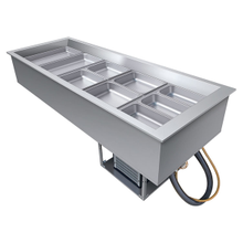Hatco CWB-5 Drop-In Refrigerated Well, (5) pan size, top mount, electronic temperature control, pan support bars for full-size pans, condenser unit