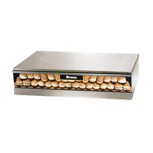 Star SST-50 Grill-Max Hot Dog Bun Warmer, capacity 64 buns, hidden temperature controls from 80F to 200F, full extension stainless slide