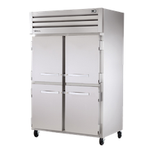 TRUE STG2F-4HS SPEC SERIES Freezer, Reach-in, -10F, two-section, stainless steel front, aluminum sides, (4) stainless steel half doors with locks