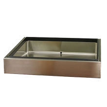 BSI CP-120-2448 BSI, LLC Marche Style Ice Pan, countertop, insulated, stainless steel exterior & liner, #4 finish, 48