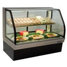 Master Bilt CGD-59 Deli Merchandiser, self-contained refrigeration, curved glass, rear air intake and discharge, adjustable stainless steel lighted