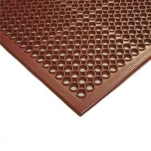 FLOOR MAT 3X5 COMPETITOR RED W/BEVELED EDGES