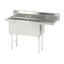 Advance Tabco FC-2-2424-18R-X Fabricated NSF Sink, 2-compartment, 18