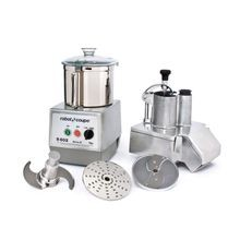 Robot Coupe R602 Combination Food Processor, 7 qt. stainless steel bowl with handle, continuous feed kit with kidney shaped & cylindrical shaped