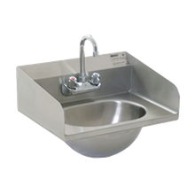 Eagle HSA-10-F-LRS-1X Hand Sink, wall mount, 13-1/2