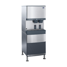Follett 110FB425A-S Symphony Plus Ice & Water Dispenser, freestanding, SensorSAFE dispense, removable ice machine in base, automatic load